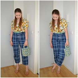 Mucha Lucha - H&M Top, Asos Belt, Monki Jeans, Zara Bag, Stradivarius Heels - Sunflowers