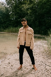 Kevin Elezaj - Levi's® Pants, Cos Jacket - At the lake