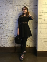 Anastasiia - H&M Gothic Dress, T.U.K. Footwear Creepers - Birthday Look