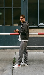 Kevin Elezaj - Converse Sneakers, Cos Suit Pants, Asket Vest - Autumn calling