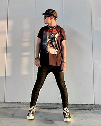 ★masaki★ - The Clash London Calling, R13 Denim Skinnyjeans, Converse Ct70 - London Calling