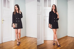 Ewa - Shein Blezer Dress - Black Blezer Dress