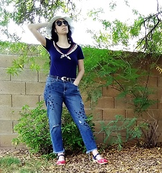 Saguaro Style - Marc By Jacobs Sailor Top, Anthropologie Star Jeans, Sven Clogs Liberty - Patriot day.