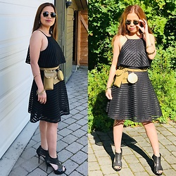 Janeth Javier - Ray Ban Sunglasses, Nly Trend Dress, H&M Belt - Black is 🖤