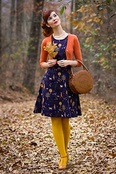 Bleu Avenue Ofbleuavenue - Princess Highway Rainy Days Pinafore, Mak Dream Of The Crop Cardigan - Manic Mondays
