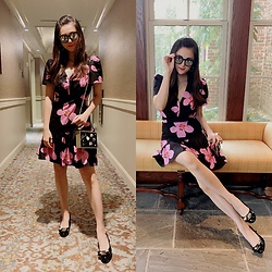 Ming Francis - Kate Spade Floral Dress, Salvatore Ferragamo Pumps, Karl Lagerfeld Clutch, Gentle Monster Sun Glasses - Floral Dress For Dinner