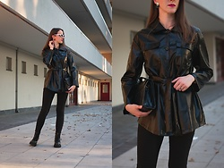 Ewa - Shein Black Leather Jacket - Matrix