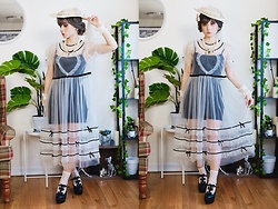 Lovely Blasphemy - Summer Fairy X Etsuna Otsuka Sheer Overdress, Liz Lisa Black Heels - All we have... is what to do with the time... given to us