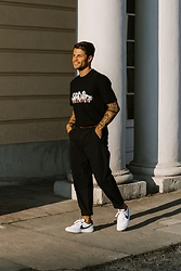 Kevin Elezaj - Nike Sneakers, Folk Pants, Casablanca T Shirt - Towards the sun