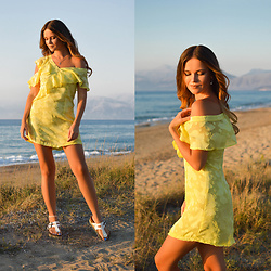 Tamara Bellis - Dresslily Lime Ruffled Dress, Asos Platform Sandals - Little Lime Dress