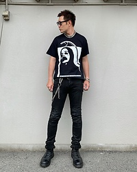 ★masaki★ - Dr. Martens Limited 10hole, Neuwdenim Iggy, Vitaly Blacelet - All Black