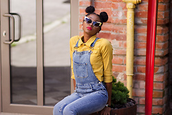Melody Jacob -  - YELLOW DENIM JACKET AND JEANS OVERALL