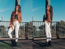 Jenny - Vain Secrets Shoes, Only Pants, Primark Jacket, Femme Luxe Top - BOOT SEASON