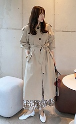 Miamiyu K - Miamasvin Single Breasted Long Trench Coat - Back to Classic