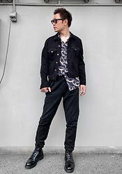 ★masaki★ - Neuw Denim Jacket, Neuw Denim Shirts, Neuw Denim Pants, Dr. Martens Mono - Black Outfit