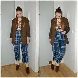 Mucha Lucha - Second Hand Blazer, H&M T Shirt, Monki Jeans, H&M Socks, Asos Shoes - First autumnal outfit of the year