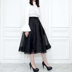 Otto Lillian -  - Organdy Black Skirt