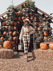K-laa White - Nectar Better Half Cropped Knit Sweater, Sayulada Mazunte, Urban Outfitters High Commissionadd To Favorites Scarf Trim Telescope Hat - Pumpkins