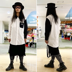 @KiD - Vivienne Westwood Hat, Buttstain Big Shirts, Komakino Bondage Shorts, Blood Is The New Black Unknown Pleasures, Dr. Martens Unknown Pleasures - JapaneseTrash604