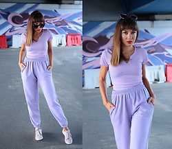 Jointy&Croissanty © - Femme Luxe Joggers - Lilac joggers