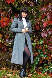 Moda_i_takie_tam - Vero Moda Woolen Coat, H&M Leather Boots - Hardware