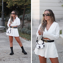 Claudia Villanueva - Gucci Sunglasses, Shein Set, Zaful Bag, Asos Boots - Gucci Babes