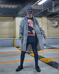 ★masaki★ - Kollaps Electronica, Ssnmrkrn Artisanal Military Coat, David Bowie Low, R13 Denim Jeans, Converse Gx1000 - LOW