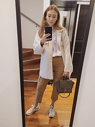 Tímea C - Zara Sneakers - Teddy jacket