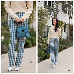 Lisa Valerie Morgan - Tammy & Benjamin Bag - Fall Transitional Look: Gingham