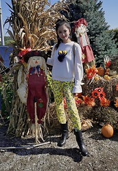 Ming Francis - Five Plus Monster Sweatshirt, Zara Yellow Pants, Vince Camuto Boots - Colorful Days