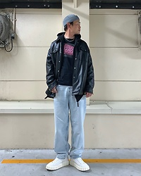 ★masaki★ - Fight Club Movie Tee, Bershka 90's Leg Jeans, Eytys Odessa - Fight Club