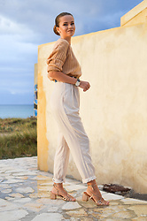 Tamara Bellis - H&M Sweater, Noracora Pants, Noracora Sandals - Coffee In October