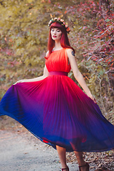 Bleu Avenue Ofbleuavenue - Chic Wish Splendor Of The Sunset Gradient Dress - Splendor of the Sunset