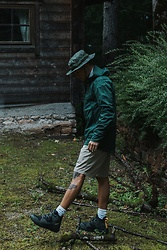 Kevin Elezaj - Mammut Shoes, Cos Shorts, Mammut Jacket, Asos Hat - Nature