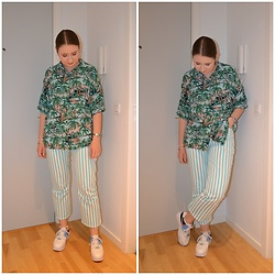 Mucha Lucha - Monki Shirt, Asos Jeans, Nike Sneakers - Last summery outfit of the year