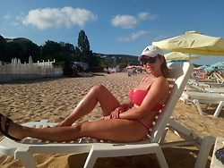 Kate P. - H&M Rew Bikiny, Adidas White Cap, Adidas Black Shoes - IT WAS PARADISE - BULGARIA