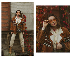 Iwona - Uncle Ed Vintage Jacket, Lee Boyfriend Jeans, Vestium Vintage Sweater - AUTUMN