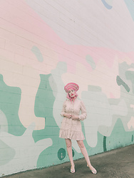 Amy Roiland - Sister Jane Dress, By Me X Butrich Heels - Pink HAAAIR