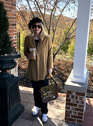 Shannon D - Burberry Coat, Adidas Sneakers, Rock & Republic Dark Denim, Chanel Bag, Gucci Sunglasses - Casual Chic