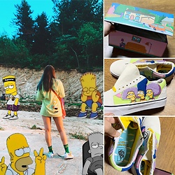 Hera K - Vans The Simpsons, No Name Bart Simpson - The Simpsons💚💛💜