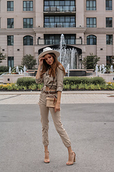 Jenny M - Anthropologie Hat, Forever 21 Bag, Shoe Dazzle Sandals - IG @thehungarianbrunette - Urban Safari