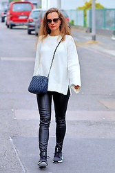 Rimanere Nella Memoria - Leather Pants - Black & White Street Style