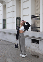 Claudia Villanueva - Pull & Bear Jacket, Bershka Top, Zara Pants, Shein Bag, Buffalo London Sneakers - I didn´t think it too much