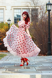 Bleu Avenue - Lirika Matoshi Strawberry Midi Dress, Amazon.Com Red Bow Heels - Matoshi Strawberry Dress