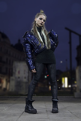 DanyIce - Bershka Puff Jacket, Cotton Sweater, Terranova Leggins, No Name Boots - Sparkle