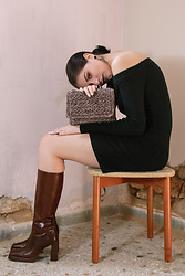 Christina - Jeffrey Campbell Shoes Brown Boots - Depletion