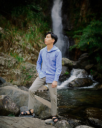 FL JU - Sandro Shirts, Topman Trousers - Waterfall in wulai
