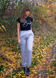 Jointy&Croissanty © - Femme Luxe Joggers - Grey joggers