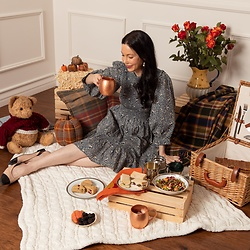 Lisa Valerie Morgan - Doen Dress - Indoor Fall Picnic