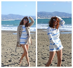 Mi Vida En Rojo - Lightinthebox Two Pieces Set, Zara Trench - November at the Beach